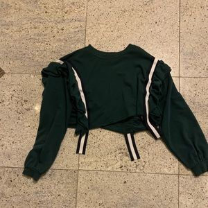 Dark green urban outfitters cropped crew neck